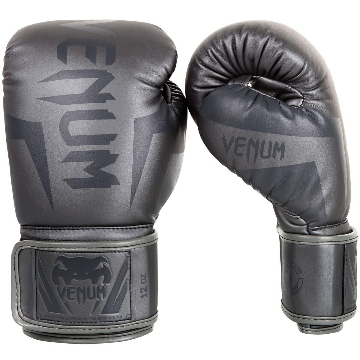VENUM ボクシンググローブ ELITE BOXING GLOVES (グレー×グレー) //スパーリンググローブ ボクシング キックボクシング フィットネス 送料無料