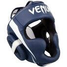 VENUMヘッドガードEliteHeadgear(ホワイト×ネイビーブルー)//ボクシングスパーリングキックボクシングヘッドギア格闘技防具送料無料