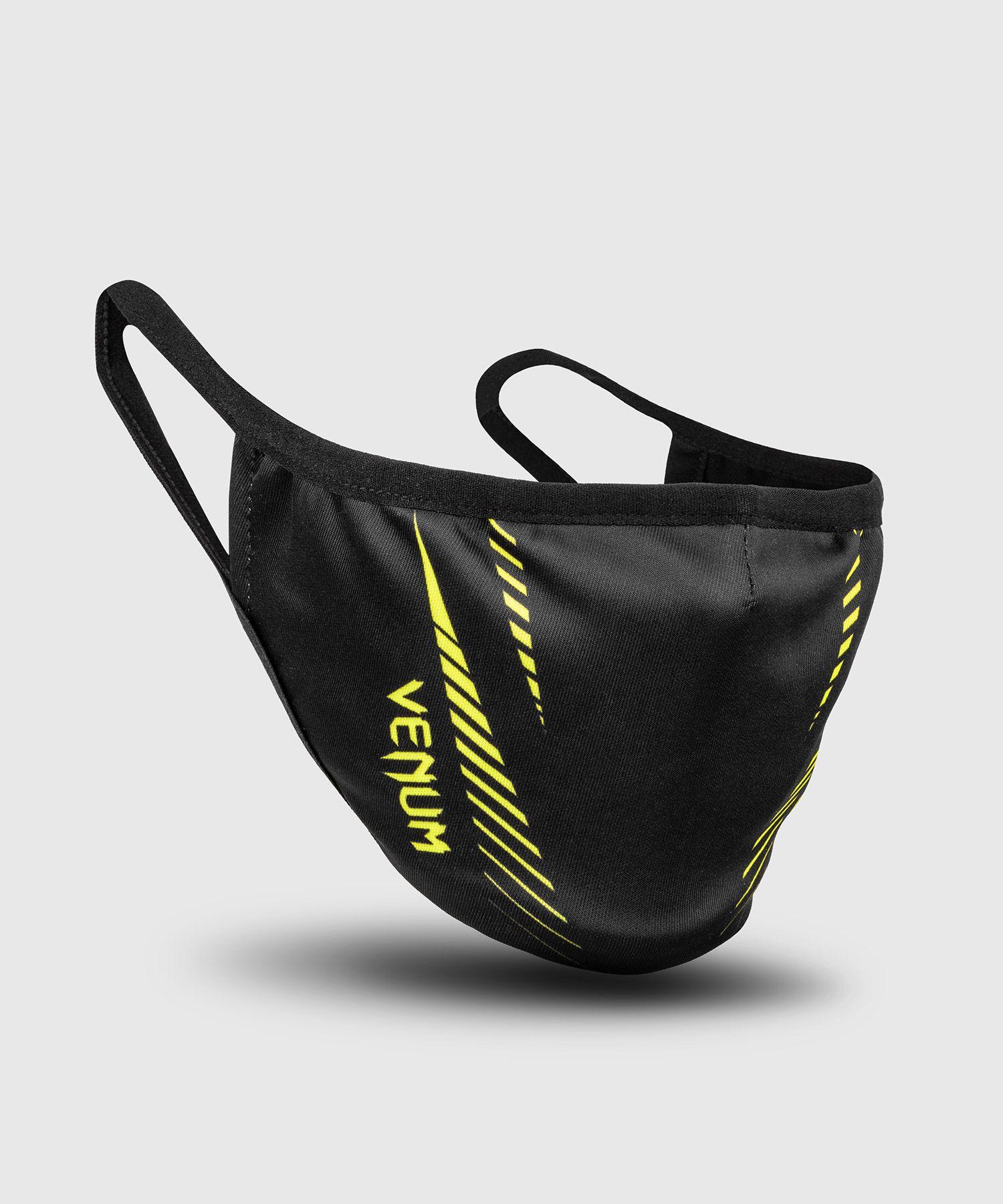 VENUM フェイスマスク (ブラック×ネオンイエロー) //大人用 マスク 個包装 洗えるマスク ファッションマスク 花粉対策 スポーツ 送料無料