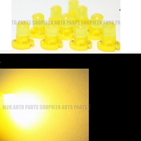 LED T4.2 T3 エアコン メーター スイッチ インジゲーター ポジション 球 超拡散 全面発光 COB タイプ イエロー 黄 汎用品 2個 サーフ パジェロ N-ONE イプサム スペイド ヴィッツ シルビア ムーブ インプレッサ エスティマ 送料無料
