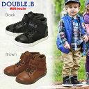 【アウトレットセール30%OFF】【メール便不可】【DOUBLE B ダブルビー】キャンバス素材のハイカットシューズ(15cm-19cm)【ミキハウス 靴】