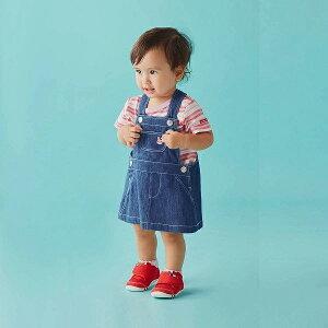 【セール30%OFF】【メール便OK】【HOT BISCUITS ホットビスケッツ】キャビットちゃん デニムジャンパースカート<S-M(70cm-90cm)>ミキハウス
