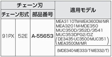 マキタチェーン刃91PX-52EA-55653