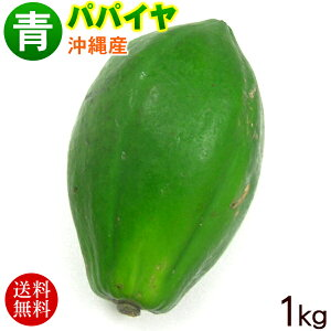 沖縄産青パパイヤ1kg(1〜3玉)