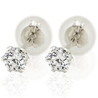 ダイヤピアス:一粒ダイヤモンド:プラチナ900ダイヤモンド0.2ctプラチナピアス