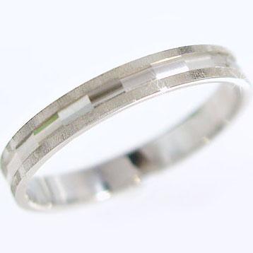 プラチナリング ダイヤカット加工 ペアリング 結婚指輪 ピンキーリングにおすすめ Pt900 指輪