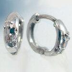 ダイヤモンドピアス:ホワイトゴールドk18:ダイヤピアス:ワンタッチ式/K18wgピアスダイヤ0.02ct