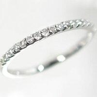 ハーフ/エタニティリング:ダイヤモンド:プラチナ900:一文字/ダイヤモンドリング:PT900指輪ダイヤ0.2ct
