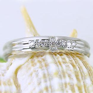 指輪:プラチナリング:ダイヤモンド/クロス/ピンキーリング/Pt900指輪ダイヤ0.07ct【送料無料】