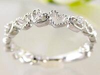 ハート/ダイヤリング:ホワイトゴールドk18:ダイヤモンドリング/K18wg指輪ダイヤ0.03ct
