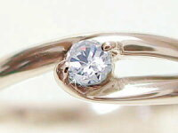 ピンキーリング:ピンクゴールドK18:ダイヤモンドリング/K18PG指輪ダイヤ0.07ct【smtb-m】