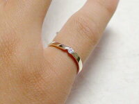 ダイヤモンド:ピンキーリング:イエローゴールドk18/一粒ダイヤモンドリング/K18指輪ダイヤ0.07ct