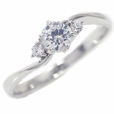 婚約指輪 エンゲージリング ダイヤモンド 0.3ct E VVS1 3EX H&C 鑑定書付 指輪 プラチナ900 脇ダイヤ0.04ct PT900 ダイヤ 指輪