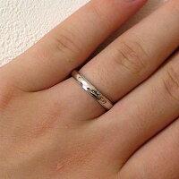結婚指輪:マリッジリング:ペアリング:ホワイトゴールドk18:ダイヤモンド:ペア2本セット/K18wg指輪ダイヤ0.02ct:甲丸ストレートライン【smtb-m】