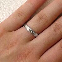 ペアリング:結婚指輪:マリッジリング:ホワイトゴールドk18:ダイヤモンド:ペア2本セット/K18wg指輪ダイヤ0.02ct:平打ちストレートライン【smtb-m【送料無料】】