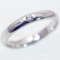 ペアリング:結婚指輪:マリッジリング:ホワイトゴールドk18:ダイヤモンド:ペア2本セット/K18wg指輪ダイヤ0.05ct:甲丸ストレートライン【smtb-m】