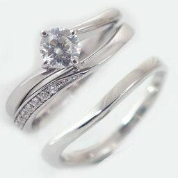 婚約指輪 エンゲージリング 結婚指輪 マリッジリング プラチナ900 3本セット ダイヤモンド 0.5ct D VVS1 3EX H&C 鑑定書付 Pt900