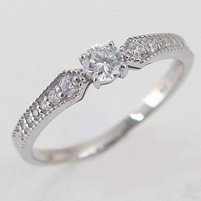 婚約指輪 プラチナ エンゲージリング ダイヤモンド 0.2ct F VS2 EX 鑑定書付 ダイヤリング Pt900 脇ダイヤ 0.12ct
