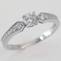 婚約指輪:エンゲージリング:ダイヤモンド:0.3ct/D-VS1-EX:鑑定書付:指輪:プラチナ900:脇ダイヤ0.14ct/PT900ダイヤ指輪【smtb-m】