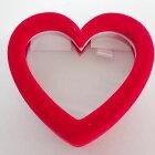 【ハートマルチジュエリーケース】リング用ジュエリーケースリングケースイヤリング・ピアスケースペンダントケースハート赤レッド贈り物にプレゼントにスケルトンジュエリーボックス