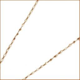 ピンクゴールド K10 ネックレス 40cm 1.7ミリ幅 カットエクレア チェーン 地金ネックレス K10pg
