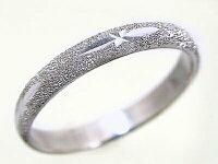 指輪:ホワイトゴールドk18:スターダスト加工:ペアリング,結婚指輪,ピンキーリングにおすすめ/K18wg指輪【smtb-m】