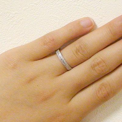 結婚指輪 マリッジリング ペアリング ホワイトゴールドk18 ペア2本セット K18wg 指輪