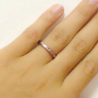 結婚指輪:マリッジリング:ペアリング:ピンクゴールドk10:ペア2本セット/K10pg指輪/重ねるとハート
