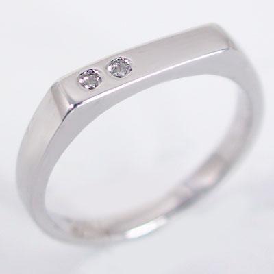 ペアリング 結婚指輪 マリッジリング ホワイトゴールドk18 ダイヤモンド ペア 2本セット K18wg 指輪 ダイヤ 0.02ct