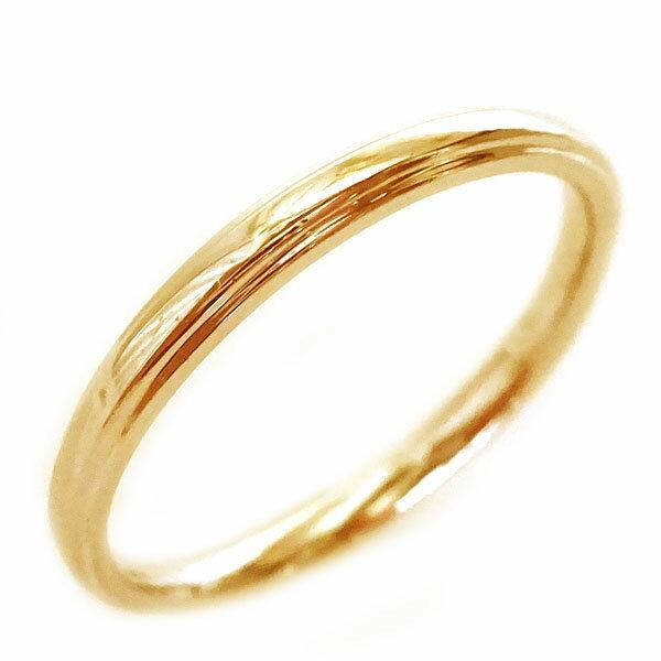 結婚指輪 ピンクゴールド K18 マリッジリング ペアリング ペア2本セット K18pg