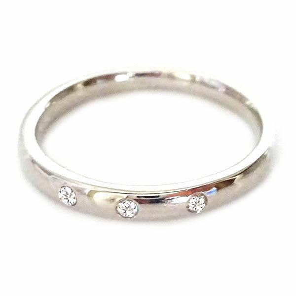 結婚指輪 ホワイトゴールド K18 マリッジリング ペアリング ダイヤモンド ペア2本セット K18wg ダイヤ