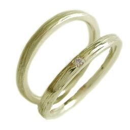 ペアリング ダイヤモンド ゴールドk10 ペア2本セット 結婚指輪 マリッジリング K10yg【送料無料】
