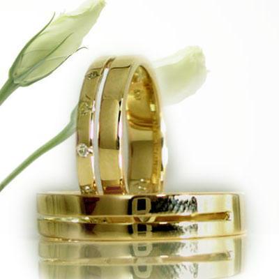イエロー ゴールド:ペアリング:結婚指輪:ダイヤモンド:マリッジリング/K10指輪ダイヤ0.06ct:MAオリジンジュエリー