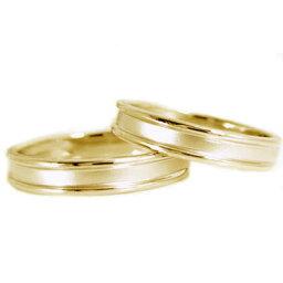ペアリング 結婚指輪 イエローゴールドk18 マリッジリング ペア2本セット K18指輪