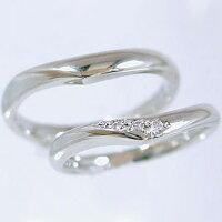 結婚指輪:ペアリング:プラチナ/マリッジリング:ダイヤモンド:指輪:ペア2本セット/Pt900指輪ダイヤ0.03ct【smtb-m】