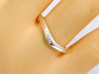 ペアリング:結婚指輪:マリッジリング:ホワイトゴールドk18:ダイヤモンド:指輪:ペア2本セット/K18wg指輪ダイヤ0.03ct