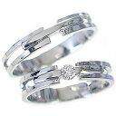 マリッジリング 結婚指輪 ペアリング ホワイトゴールドk10 ダイヤモンド ペア2本セット K10wg 指輪 ダイ...