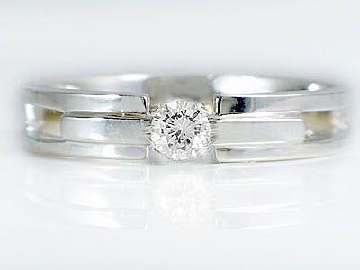 マリッジリング 結婚指輪 ペアリング ホワイトゴールドk10 ダイヤモンド ペア2本セット K10wg 指輪 ダイヤ 0.10ct