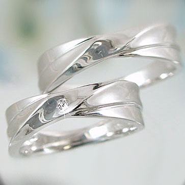 ペアリング K18 ホワイトゴールド ダイヤモンド 指輪 マリッジリング 結婚指輪 ペア 2本セット K18wg ダイヤ 0.02ct