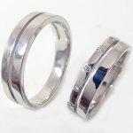 シルバー/ペアリング:結婚指輪:マリッジリング:ダイヤモンド0.06ct:ペア2本セット:SV925:指輪【smtb-m】