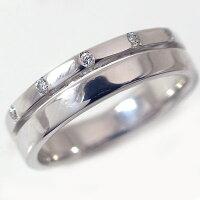 プラチナ/ペアリング:結婚指輪,マリッジリング/Pt900指輪ダイヤ0.06ct:ペア2本セット指輪【smtb-m】