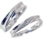シルバー/ペアリング:結婚指輪:マリッジリング:ダイヤモンド:ペア2本セット/SV925指輪:ダイヤ0.04ct