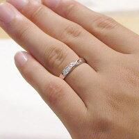 結婚指輪:ペアリング:マリッジリング:ピンクゴールド/ホワイトゴールドK18/ダイヤモンド:指輪:ペア2本セット/K18指輪ダイヤ0.03ct