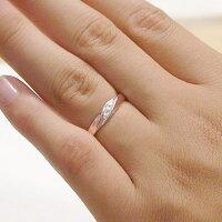 ペアリング:結婚指輪:マリッジリング:ピンクゴールド/ホワイトゴールドk10/ダイヤモンド:指輪:ペア2本セット/k10指輪ダイヤ0.03ct
