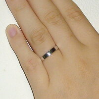 ペアリング:プラチナ900:結婚指輪:マリッジリング:平打ち:ペア2本セット/Pt900指輪