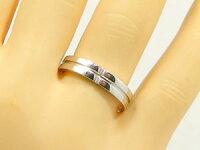 クロス:ペアリング:結婚指輪:プラチナ900:マリッジリング:ペア2本セット:ダイヤモンド/Pt900指輪ダイヤ0.01ct