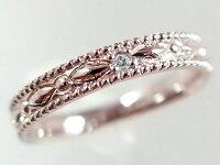 結婚指輪:マリッジリング:ペアリング:ピンクゴールドK18/ホワイトゴールドk18:ペア2本セット:ダイヤモンド:K18pg/K18wg指輪ダイヤ0.01ct【smtb-m】
