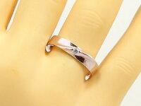 結婚指輪:ペアリング:ピンクゴールド/ホワイトゴールドk18:マリッジリング:ペア2本セット:ダイヤモンド/K18pg/K18wg指輪ダイヤ0.07ct