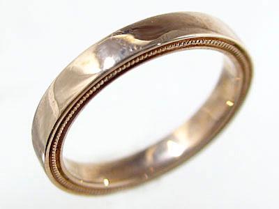 ペアリング 結婚指輪 ピンクゴールドk18 マリッジリング ペア 2本セット K18pg 指輪