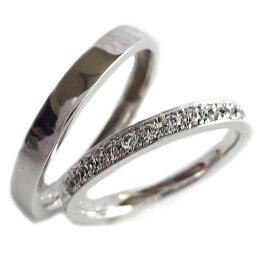 結婚指輪 プラチナ900 マリッジリング ペアリング ダイヤモンド ペア2本セット Pt900 ダイヤ【送料無料】